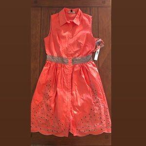 Orange Button Down Alex Marie Dress